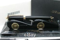 S. T. Dupont Streamline-r Fountain Pen Ceramium A. C. T. Matt Black, Gold