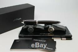 S. T. Dupont Streamline-r Fountain Pen Pen Matt Black Palladium Trim