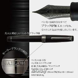 Sailor 11-3028-420 Fountain Professional Gear Imperial Black Medium Nib Matte