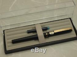 Sailor Fountain Pen / 360 degree TRIDENT Matte Black Slim type N. O. S