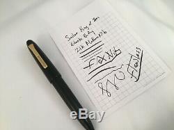 Sailor King of Pen Ebonite Fountain Pen Matte Black 21k Solid Gold Medium Flex