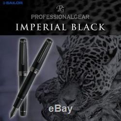 Sailor Professional Gear Imperial Black Matte Large M nib 21k fountain pen