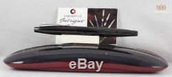 Sheaffer Intrigue 614 Shiny Black Stencilled Matte Black Fountain Pen Not Used