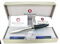 Sheaffer Legacy 2 Sandblasted Platinum & Matte Black Fountain Pen Never Inked