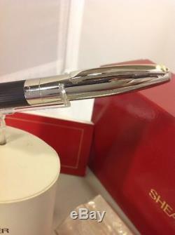 Sheaffer Legacy 2 White Dot Palladium Linear Matte Black Ballpoint Pen MP NOS