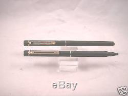 Sheaffer Slim Matte Black Targa Fountain Pen-BP Set