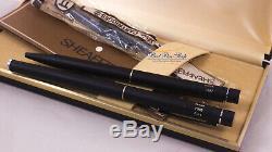 Sheaffer Targa 1002 Fountain Ballpoint Set BLACK FP & BP (NOS New Old Stock)