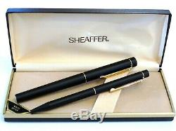 Sheaffer Targa 1003 Matte Black Fountain & Ballpoint Pens With 14k Nib Nos