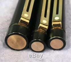 Sheaffer Targa 1003 Matte Black Fountain Pen 14k Gold Nib Ballpoint Pen -amp