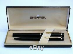 Sheaffer Targa 1003 Matte Black Fountain Pen With 14k Gold Nib & Ballpoint Pen