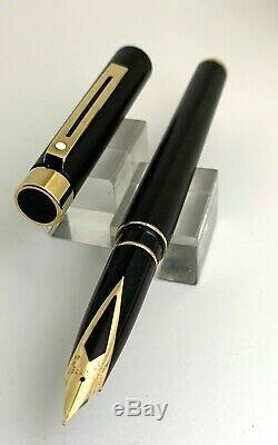 Sheaffer Targa Full Size Fountain Pen Matte Black, Fine Nib, NOS in Box