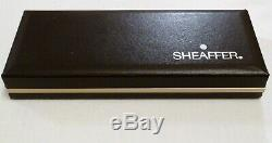 Sheaffer Targa Matte Black Laque Fountain Pen With 14k Gold Nib & Pencil Nos