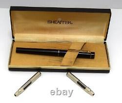 Sheaffer Targa Model 1003 Matte Black Medium In Case With extra Inserts