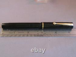 Sheaffer Vintage Black Flat Top Fountain Pen-l4k CLIP-medium point-working