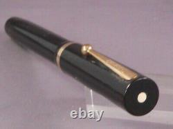 Sheaffer Vintage White Dot Flat Top Black Fountain Pen-medium point