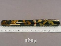 Sheaffer Vintage White Dot Flat Top Black and Pearl Fountain Pen-fine-works
