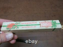 Sheaffer's Fountain Pen 1920 Flat top self filling BCHR Christmas BOX Papers