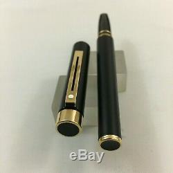 Sheaffer targa full size Black Matt GT end 14K Fine+Converter BOX USA New