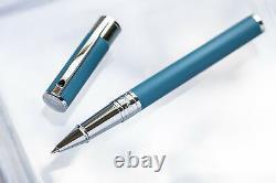 St Dupont D Initial Matt Black And Chrome Ballpoint Pen 265207 Solid Brass