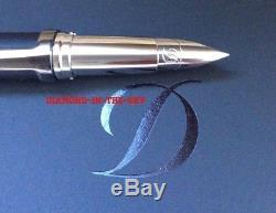 St Dupont Defi Gunmetal Fountain Pen Limited Edit W Black Matt Color New 400707