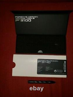 Sweet! Porsche Design P'3140 Matte Black Twist Shake Ballpoint Pen-new