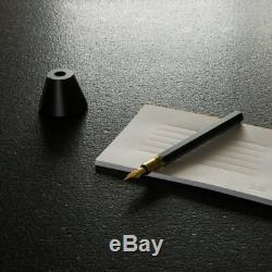 Taiwan Y Studio Special Design Matte Black Brass Fountain Pen Desk Set