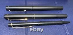 Targa by Sheaffer 1003 Fountain pen with 14k Gold NIB Matte Black Rollerball 3 Pc