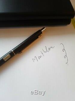 VINTAGE Montblanc Slimline Matte black Ballpoint Pen and 0.5 mechanical pencil
