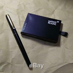 Very good! Montblanc Vintage S line Matt black Fountain Pen Nib/M Gold