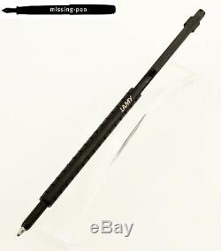 Very slim Lamy Spirit Ballpoint Pen in Matte Black with hole in the push button