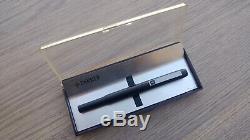 Vintage 1980's UNUSED Parker 25 Matte Black Fountain Pen In Original Box