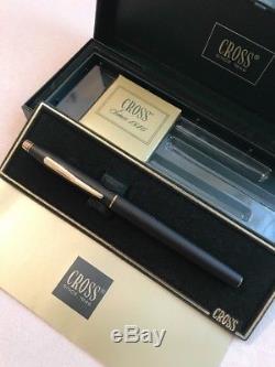 Vintage Cross Century Epoxy Matt Black Gt Medium Fountain Pen-ireland-boxed-nos