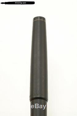 Vintage LAMY Profil Model 86 Piston Fountain Pen in Matte Black W. Germany M-nib