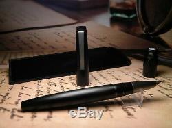 Vintage Lamy 2000 Fountain Pen-Matt Black Makrolon-18K Fine Nib-W. Germany