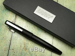 Vintage Lamy 2000 Fountain Pen-Matt Black Piston Filler-14K Nib-Germany