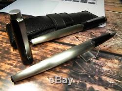 Vintage Lamy 25P Fountain Pen Set-Brushed Steel & Matt Black-W. Germany 1970s