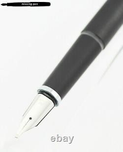 Vintage Lamy 80 Fountain Pen in Matte Black with 14K OBB-nib / W. Germany