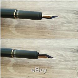 Vintage MONTBLANC Slimline Matte Black Fountain Pen With Gold Trim GERMANY