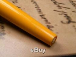 Vintage Montblanc Carrera Fountain Pen-Matt Black & Yellow-Germany 1970s