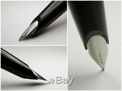 Vintage Montblanc Carrera Fountain Pen-Matt Steel and Black-Germany 1970s