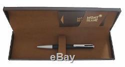 Vintage Montblanc Matte Black & Silver Ballpoint Pen Click Pen New In Box