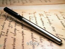 Vintage Montblanc Noblesse Fountain Pen-Matt Black & Matt Steel-Germany 1980s