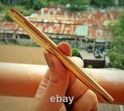 Vintage PARKER 75 Insignia Gold Filled Fountain Pen Flat Top Mint Condition