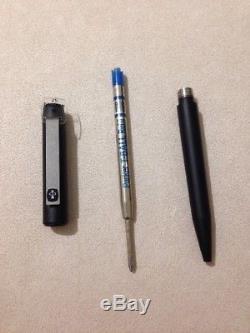 Vintage Parker 25 Epoxy Matt Black-black Trim Ballpoint Pen-england-boxed