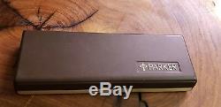 Vintage Parker ballpoint Pen and Pencil Classic matte Black set in gold trim