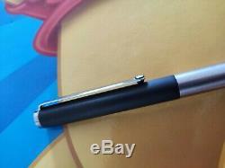 Vintage Rare Montblanc Slimline Noblesse fountain pen matte black and steel
