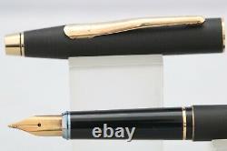 Vintage (c1980) Cross Classic Century Epoxy Matt Black Fountain Pen, GT