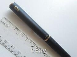 Vtg matte black metal gt sailor trident fountain pen