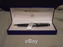 WATERMAN BALLPOINT PEN EXPERT II MATTE BLACK withSILVER TRIM NEW IN BOX