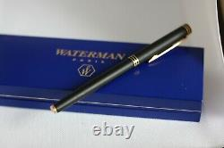 WATERMAN EXCLUSIVE in MATTE BLACK FOUNTAIN PEN with 18k gold NIB size M